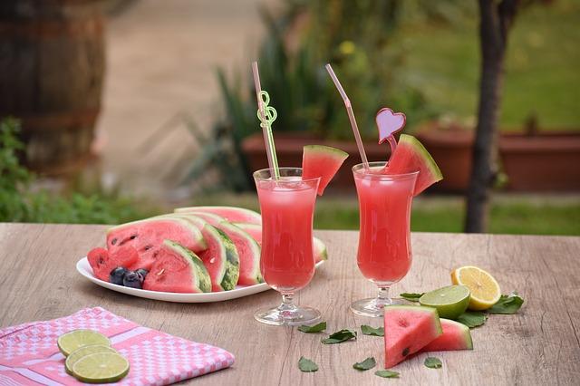 melounové drinky